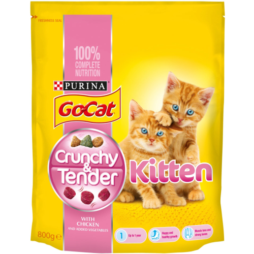 Go-Cat Crunchy And Tender Chicken Kitten Food