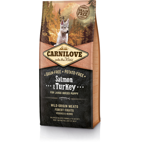 Carnilove Salmon & Turkey Large Breed Puppy Food 12kg