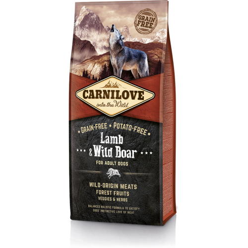 Carnilove Lamb & Wild Boar Adult Dog Food 12kg