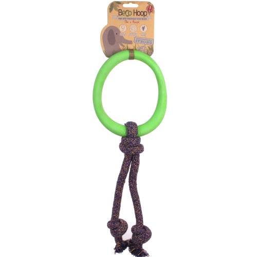 Beco Hoop on a Rope Dog Toy