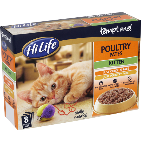 HiLife Tempt Me! Pouch Poultry Pate Kitten Food
