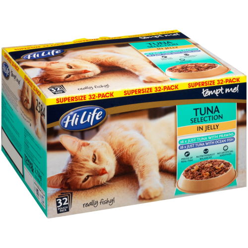 HiLife Tempt Me! Pouch Tuna Selection Jelly Adult Cat Food