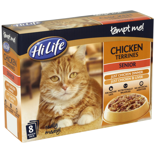 HiLife Tempt Me! Pouch Chicken Terrines Senior Cat Food