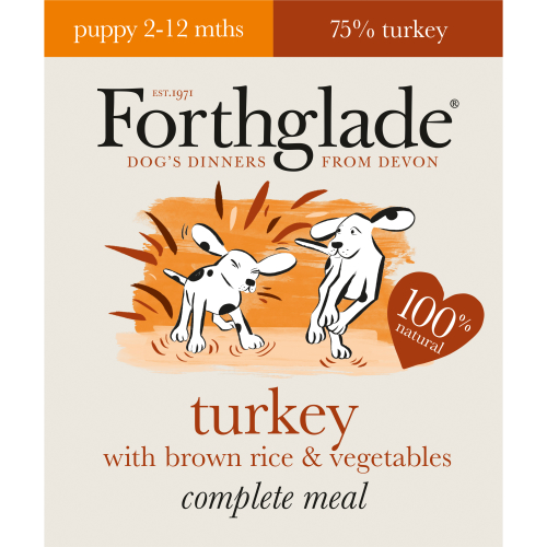 Forthglade Complete Turkey with Brown Rice & Veg Puppy Food