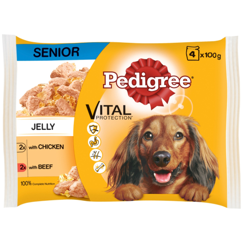 Pedigree Pouch Chicken & Beef Selection in Gravy Senior Dog Food