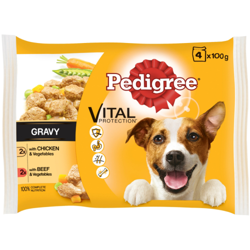 Pedigree Pouch Chicken & Beef Selection in Gravy Adult Dog Food