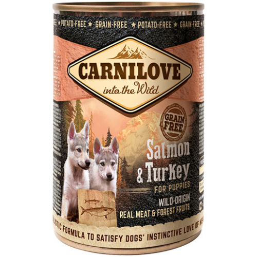 Carnilove Salmon & Turkey Puppy Wet Food 400g x 18