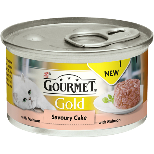 Gourmet Gold Savoury Cake Salmon In Gravy Adult Cat Food