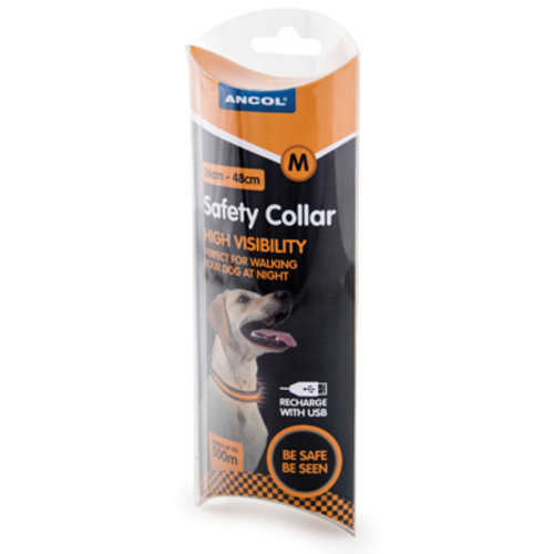 Ancol Rechargeable Flashing Dog Collar