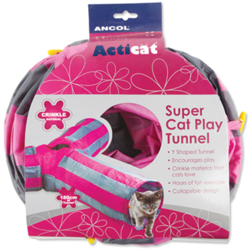 Ancol Acticat Y-shaped Play Tunnel