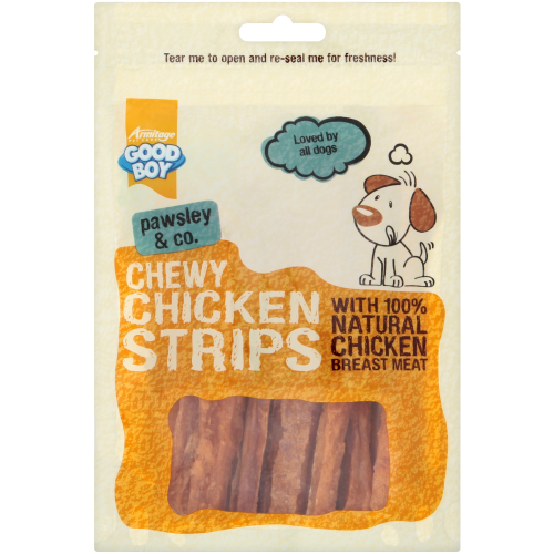 Good Boy Pawsley & Co Chewy Chicken Strips Dog Treats