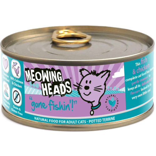 Meowing Heads Gone Fishin Wet Cat Food