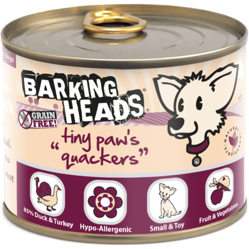 Barking Heads Tiny Paws Quackers Wet Adult Dog Food