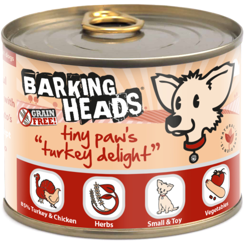 Barking Heads Tiny Paws Turkey Delight Wet Adult Dog Food