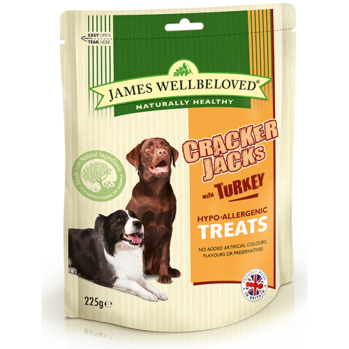 James Wellbeloved Crackerjacks Turkey Dog Treats G