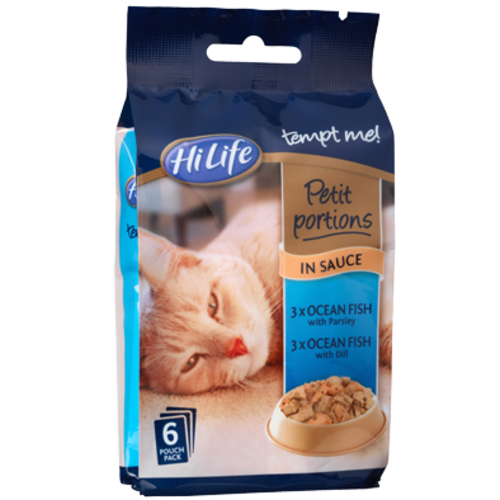 HiLife Tempt Me Petit Portion Ocean Fish in Sauce Adult Cat Food