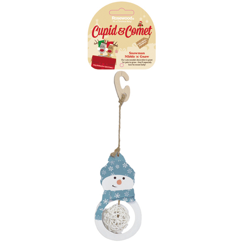 Cupid & Comet Nibble n Gnaw Snowman Small Pet Christmas Gnaw