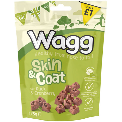 Wagg Skin & Coat Duck & Cranberry Dog Treats