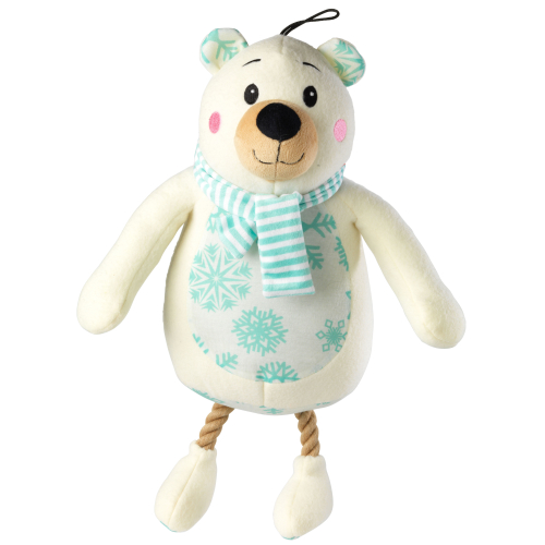 House of Paws Christmas Polar Bear Jumbo Plush Dog Toy