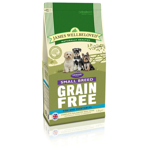 James Wellbeloved Grain Free Fish & Vegetable Small Breed Senior Dog Food