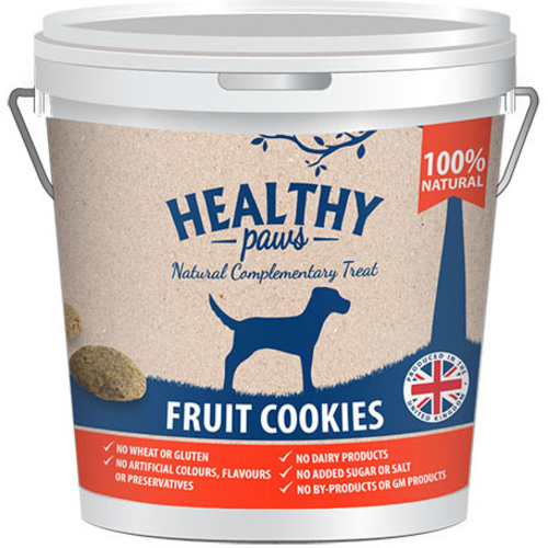 Healthy Paws Fruit Cookie Treats Dog Treats