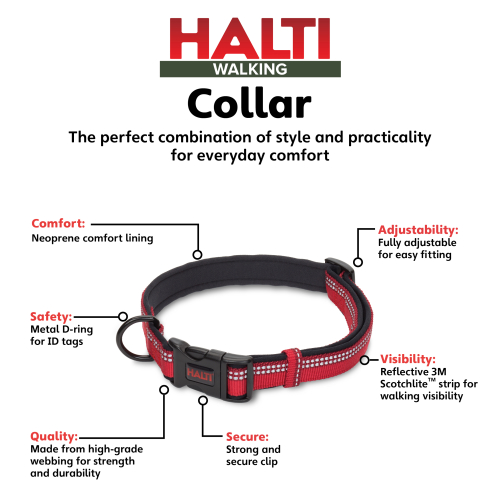 Halti Dog Collar Red