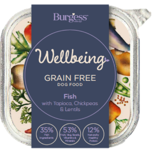 Burgess Wellbeing Grain Free Fish Wet Dog Food