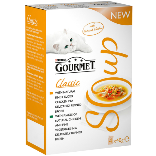 Gourmet Classic Soup Poultry Variety Multipack Adult Cat Food