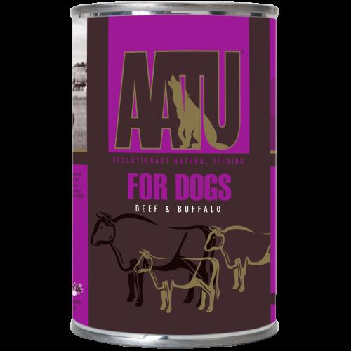 AATU Beef & Buffalo Wet Dog Food 400g x 18