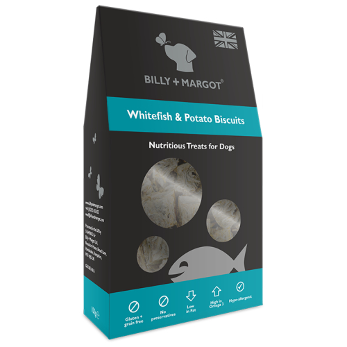 Billy & Margot Whitefish & Potato Biscuit Dog Treats