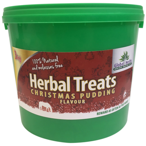Pets Global Herbs Christmas Pudding Flavour Herbal Horse Treats 3kg