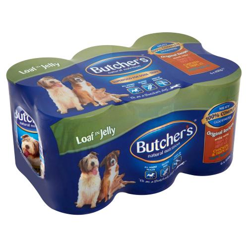 Butchers Original Recipes Tripe in Jelly Dog Food 400g x 6