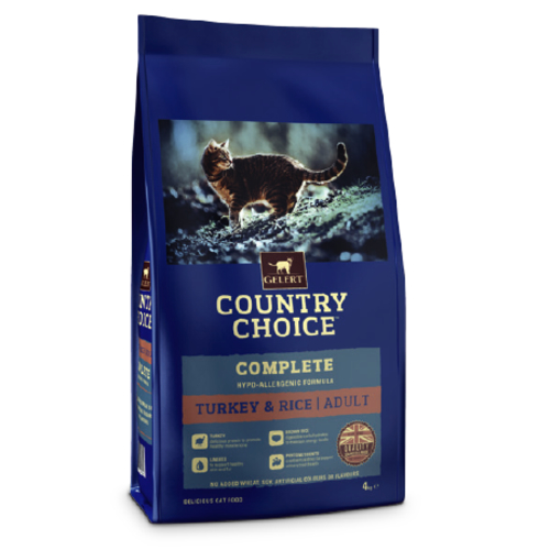 Gelert Country Choice Cat Turkey & Rice Adult Cat Food