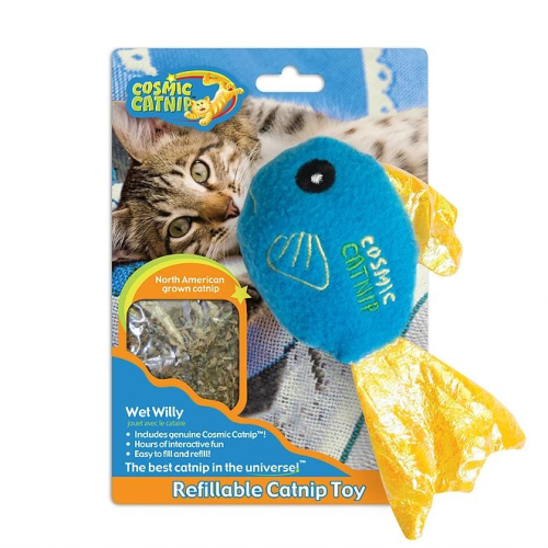 Cosmic Catnip Refillable Fish Cat Toy