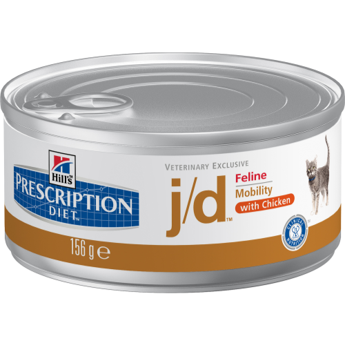 Hills Prescription Diet Feline JD Canned Chicken 156g x 24