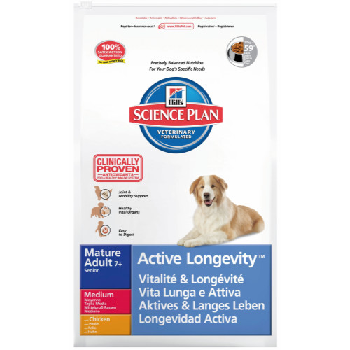 Hills Science Plan Canine Mature Adult 7+ Active Longevity Med Chicken