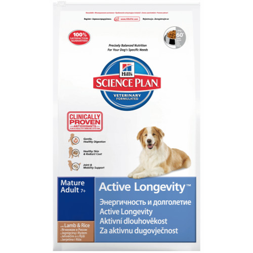 Hills Science Plan Canine Mature Adult 7+ Active Longevity Lamb