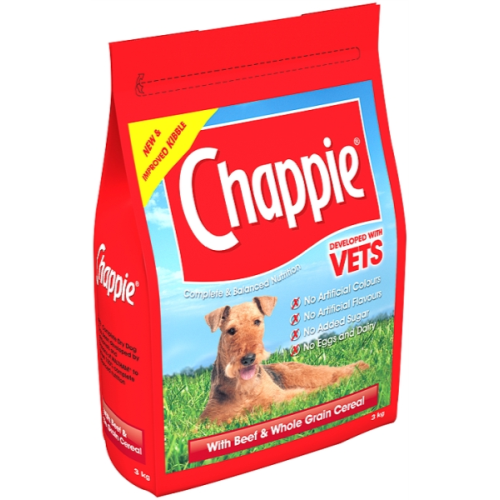 Chappie Dry Beef & Wholegrain Cereal Adult Dog Food 3kg