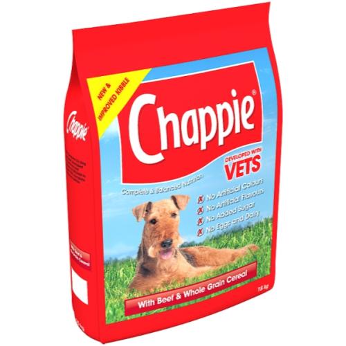 Chappie Dry Beef & Wholegrain Cereal Adult Dog Food 15kg