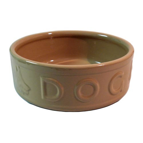 Rayware Lettered Ceramic Dog Bowl