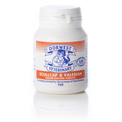 Dorwest Veterinary Scullcap & Valerian Tablets x100