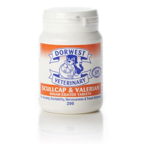 Dorwest Veterinary Scullcap & Valerian Tablets x200