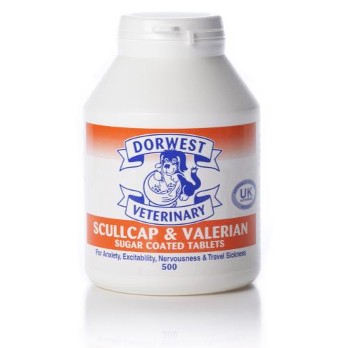Dorwest Veterinary Scullcap & Valerian Tablets x500