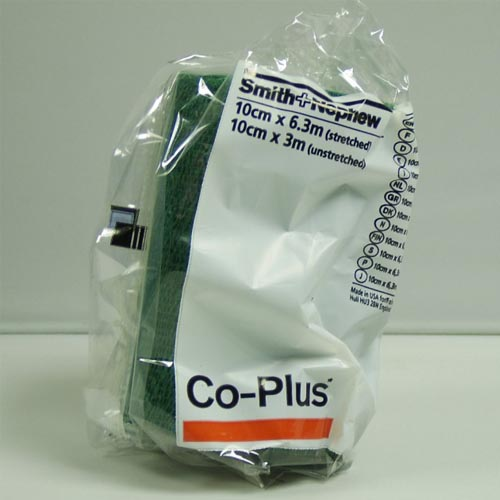 Co Plus Cohesive Bandage 10cmx3m Green