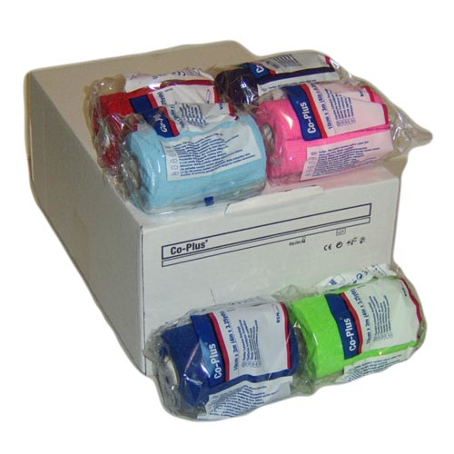 Co Plus Wound Dressing Assorted Colours 10cmx3m x18