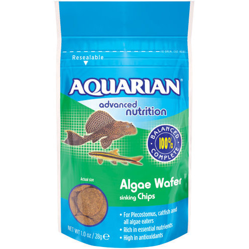 Aquarian Alga Wafer Tropical Fish Food 28g