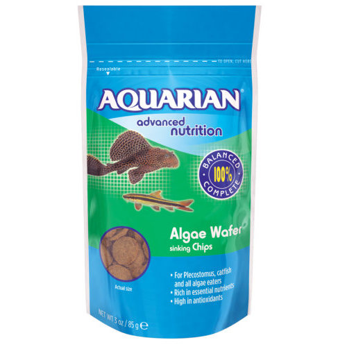 Aquarian Alga Wafer Tropical Fish Food 85g