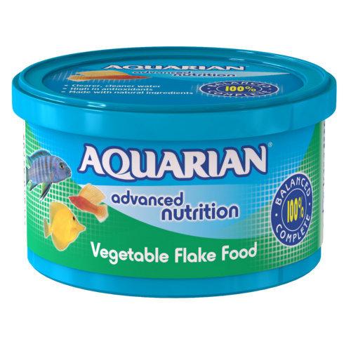 Aquarian Vegetable Tropical Fish Food 25g