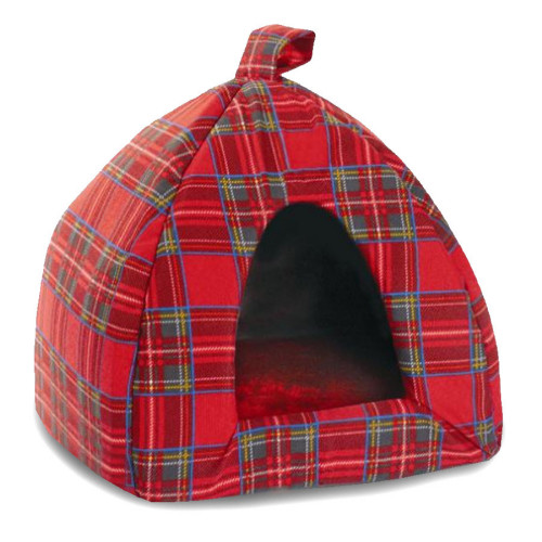 Cosipet Tartan Cat Igloo Red