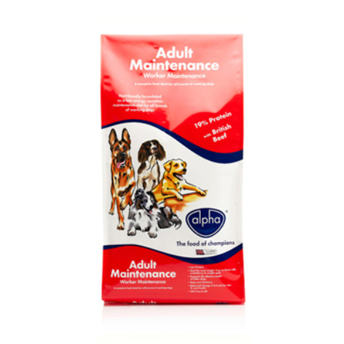 Alpha Worker Maintenance Dog Food